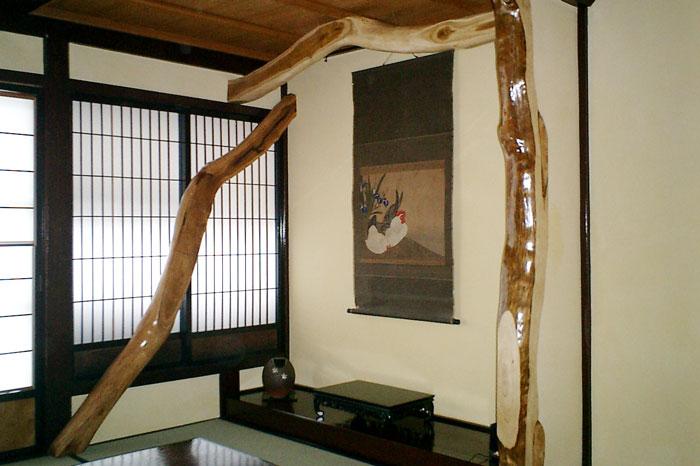 設計者のこだわりで古材を再利用した町家の家
